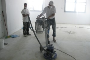 Surface preparation for floor coatings